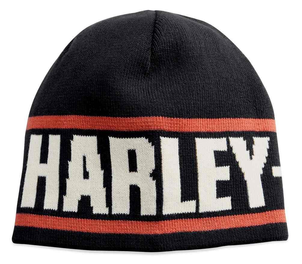 2432faa4a Harley-Davidson® Men's Reversible Cotton Knit Beanie Hat, Black 99431-18VM