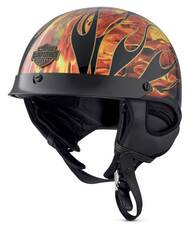 Harley-Davidson Men's Fire Breather Ultra-Light J02 Half Helmet 98173-18VX - Wisconsin Harley-Davidson