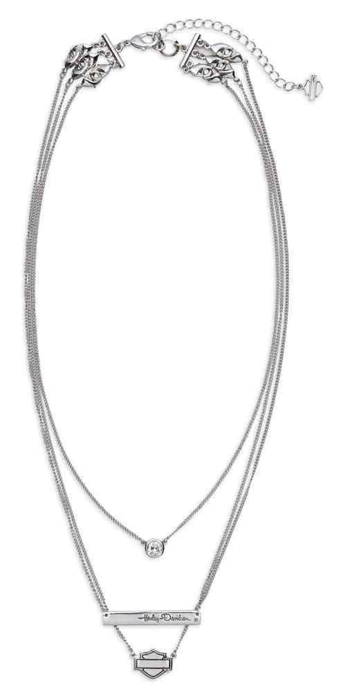 Harley-Davidson® Women s Rhinestone Three Chain Necklace ce13ca1888