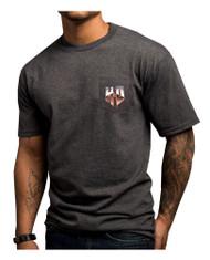 Harley-Davidson Men's Heated Metal H-D Chest Pocket Crew T-Shirt, Gray 5L38-HF1U - Wisconsin Harley-Davidson