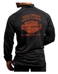 Harley-Davidson Men's Turn To Victory Performance Mock Neck Shirt 5P34-HB4L - Wisconsin Harley-Davidson