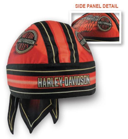 Harley-Davidson Men's Winged H-D Circle Name Headwrap, Red & Black HW23932 - Wisconsin Harley-Davidson