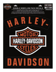 Harley-Davidson H-D Bar & Shield Rockers Window Cling - 8.5 x 11.25 in DW28366 - Wisconsin Harley-Davidson