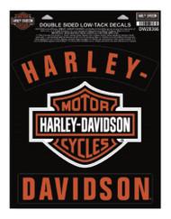 Harley-Davidson H-D Bar & Shield Rockers Window Cling - 8.5 x 11.25 in DW28366 - Wisconsin Harley-Davidson