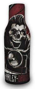 Harley-Davidson Rockabilly Skull Neoprene Zippered Bottle Wrap, Black BZ27481 - Wisconsin Harley-Davidson