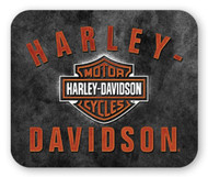 Harley-Davidson H-D Bar & Shield Rockers Mouse Pad, Thin Black Neoprene MO28366 - Wisconsin Harley-Davidson