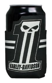 Harley-Davidson Custom Shape #1 Skull Neoprene Can Flat Wrap, Black CF71800 - Wisconsin Harley-Davidson