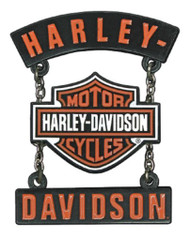 Harley-Davidson 3D Die Cast H-D B&S Rockers Pin w/ Silver Chains, Black P283664 - Wisconsin Harley-Davidson