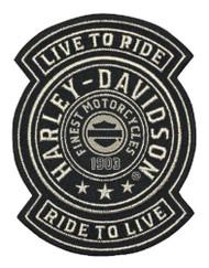 Harley-Davidson Embroidered Harley Shield Emblem Patch, SM 3.75x4.75in. EM278122 - Wisconsin Harley-Davidson