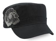 Harley-Davidson Women's Embellished Krystal Skull Painter's Cap, Black PC26530 - Wisconsin Harley-Davidson
