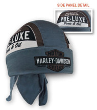 Harley-Davidson Men's Retro Pre-Luxe Headwrap, Brown & Dust Blue HW27131 - Wisconsin Harley-Davidson
