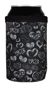 Harley-Davidson Women's Grunge Heart Neoprene Can Wrap - Black CW27080 - Wisconsin Harley-Davidson