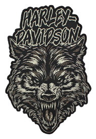 Harley-Davidson Embroidered Night Wolf Emblem Patch, 2X 7.375 x 11 in. EM273806 - Wisconsin Harley-Davidson
