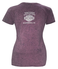 Harley-Davidson Women's Grip The Power Scoop Neck T-Shirt, Purple 5J0P-HF3F - Wisconsin Harley-Davidson