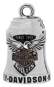 Harley-Davidson Sculpted 115th Anniversary Ride Bell, Silver Finish HDAN-Z04 - Wisconsin Harley-Davidson