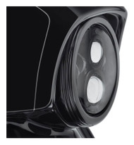 Harley-Davidson 7 in. Defiance Headlamp Trim Ring - Black Anodized 61400348 - Wisconsin Harley-Davidson