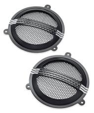 Harley-Davidson Defiance Batwing Fairing Speaker Grills - Black Machine 76000687 - Wisconsin Harley-Davidson