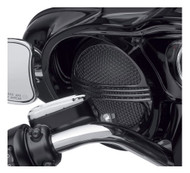 Harley-Davidson Defiance Batwing Fairing Speaker Grills - Black Finish 76000686 - Wisconsin Harley-Davidson