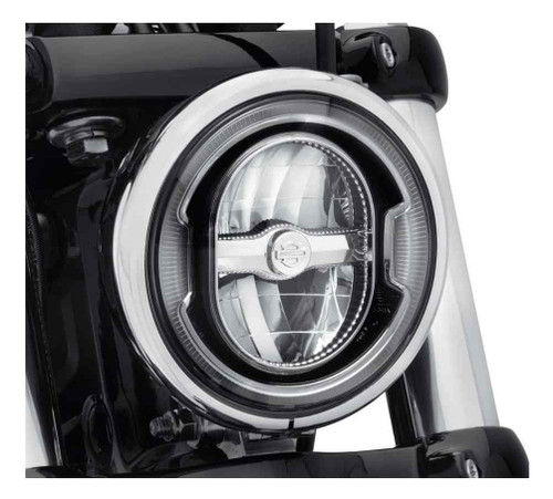 Harley-Davidson 5.75in. Daymaker Signature Reflector LED Headlamp-Black 67700356 - Wisconsin Harley-Davidson