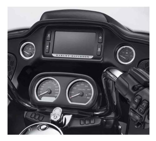 Harley-Davidson 4-Piece Defiance Gauge Bezels Fairing Kit-Chrome Finish 61400359 - Wisconsin Harley-Davidson