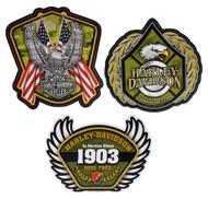 Harley-Davidson Salute Military 3pack Decal Kit, 4.75 x 6.25 inches CG45029 - Wisconsin Harley-Davidson