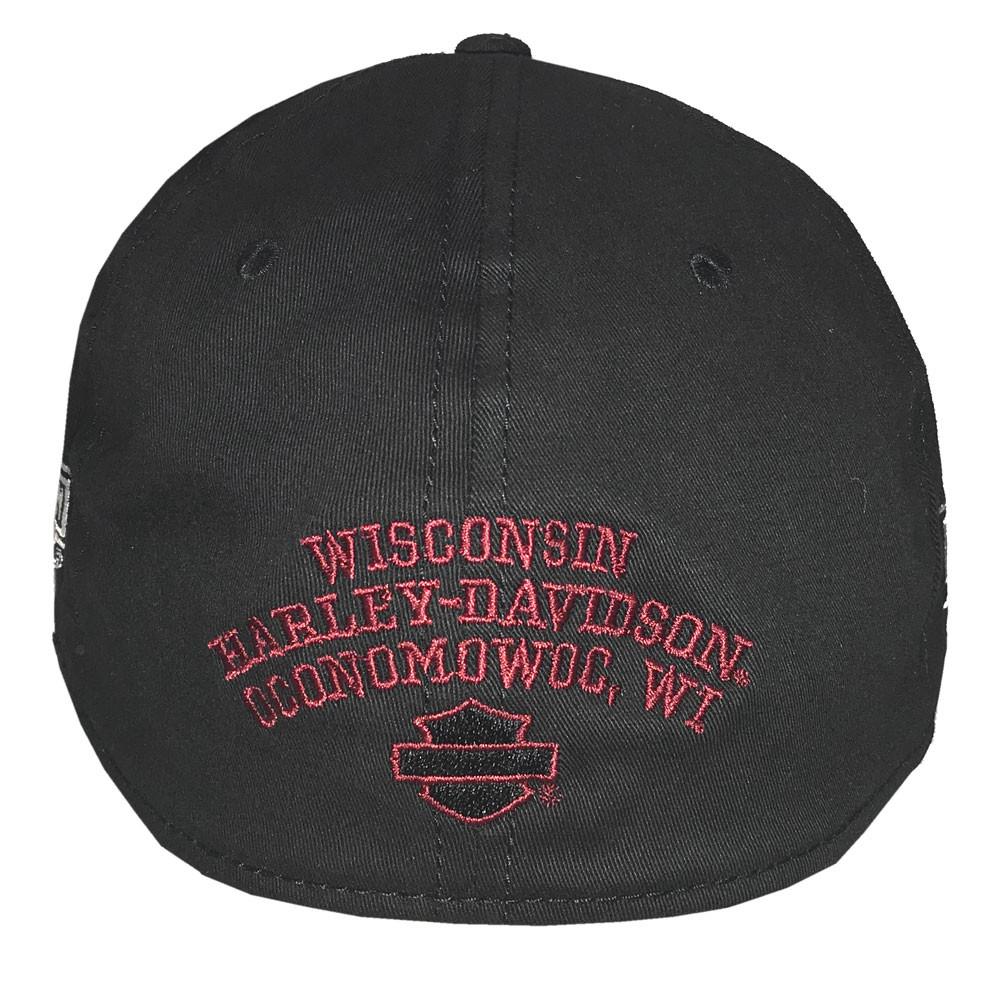 55870799f3 Harley-Davidson® Men's Embroidered Harley Shield Baseball Cap, Red/Black  BCC27881