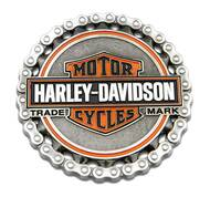 Harley-Davidson Trademark B&S Chain Heavy-Duty Metal Magnet, 3 in. 8008529 - Wisconsin Harley-Davidson
