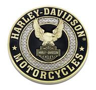 Harley-Davidson Up-Winged Eagle B&S Heavy-Duty Metal Magnet, 3 in. 8008567 - Wisconsin Harley-Davidson