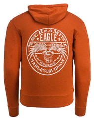 Harley-Davidson Men's Screamin' Eagle Stamp Pullover Hoodie, Orange HARLMS0082 - Wisconsin Harley-Davidson