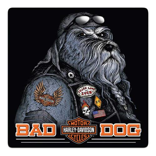 Harley-Davidson Bad Dog Bar & Shield Embossed Tin Sign, 14.5 x 14.5 inch 2011791 - Wisconsin Harley-Davidson