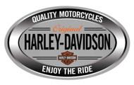 Harley-Davidson Enjoy Ride Oval Embossed Tin Sign, 18 x 10.5 inches 2011591 - Wisconsin Harley-Davidson