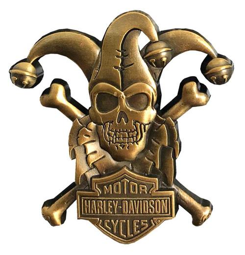 Harley-Davidson 3D Cast Clown Skull Emblem Metal Pin, Copper Coloring,119916 - Wisconsin Harley-Davidson