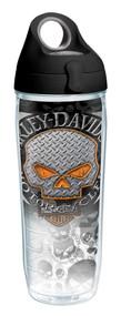 Harley-Davidson Flames Willie G Skull Water Bottle w/ Black Lid, 24 oz. 1287293 - Wisconsin Harley-Davidson