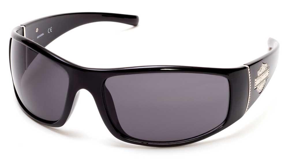 dd2524f248e ... Harley Davidson Women s Bling Bar   Shield Sunglasses Black Frame