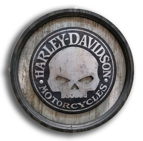 Harley-Davidson 15in Stand-Off Willie G Skull Cut-Out Barrel End BE-SM-ACSK-HARL - Wisconsin Harley-Davidson