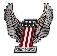Harley-Davidson Aluminum Wings #1 Hardboard Sign, 20 x 23 inch. ACCU-HD1-HARL - Wisconsin Harley-Davidson