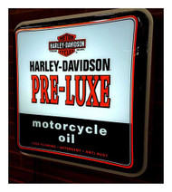 Harley-Davidson Pre-Luxe Oil Can Square Pub Light, 19.75 x 19.75 inch HDL-15626 - Wisconsin Harley-Davidson