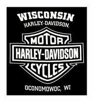 Harley-Davidson Men's Classic White Bar & Shield Logo Sleeveless Tank, Black - Wisconsin Harley-Davidson
