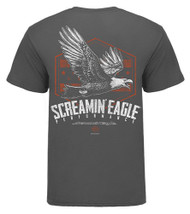 Harley-Davidson Men's Screamin' Eagle Soaring Short Sleeve Tee, Gray HARLMT0277 - Wisconsin Harley-Davidson