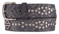 Harley-Davidson Women's Studded Bling Snake Leather Belt, Black HDWBT11450 - Wisconsin Harley-Davidson