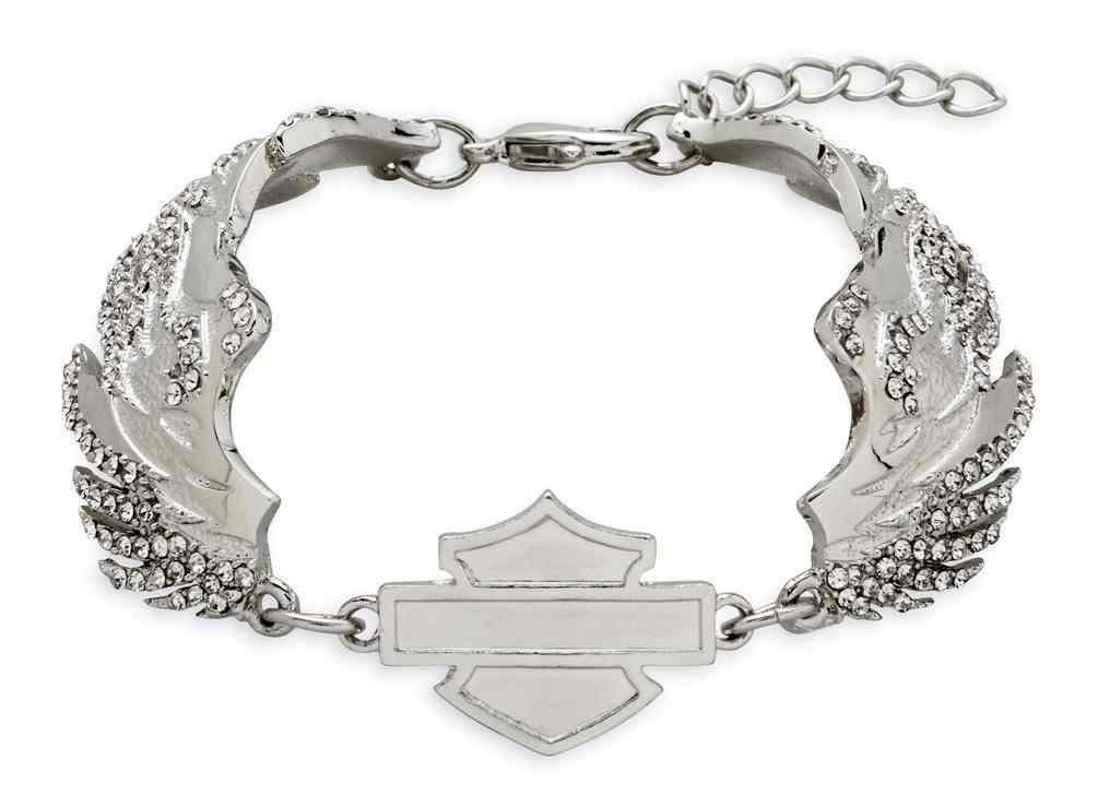 Harley-Davidson® Women s Embellished Winged Logo Bracelet 50699218ea