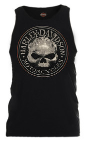 Harley-Davidson Men's Smokey Willie G Skull Sleeveless Tank, Black R002318 - Wisconsin Harley-Davidson