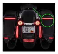 Ciro Bag Blades Red LED Lights, Fits '97-'13 Harley Touring, All Red 40038 - Wisconsin Harley-Davidson