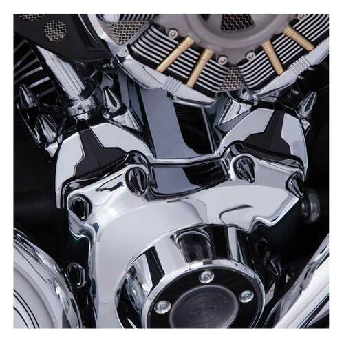 Ciro Lifter Block Cover, Fits '07-16 Harley Touring Models, Chrome Finish 70000 - Wisconsin Harley-Davidson