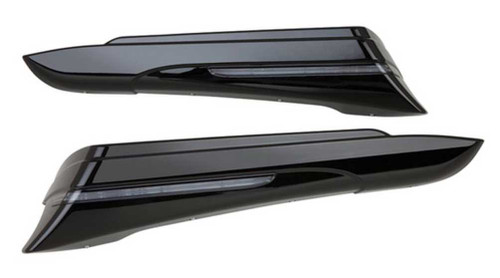 Ciro Saddlebag Extensions (Pair) 14-up Harley Road, Electra Glides Chrome or Blk - Wisconsin Harley-Davidson