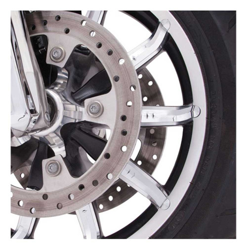 Ciro Faceted Wheel Accents (20 pcs) For 17 in Impeller Harley Wheel Chrome 70050 - Wisconsin Harley-Davidson