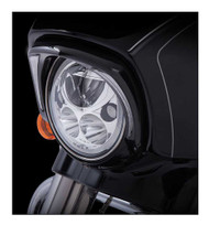Ciro Fang LED Headlight Bezels Fits Harley '14-up Touring Models Chrome or Black - Wisconsin Harley-Davidson
