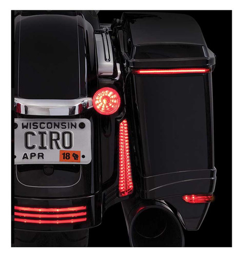 Ciro Bag Blades Red LED Lights Fits '10-'13 Harley Touring Models, All Red 40039 - Wisconsin Harley-Davidson