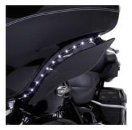 Ciro '96-'05 H-D Touring LED Bat Blades - Black, Easy Installation 45100 - Wisconsin Harley-Davidson