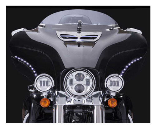 Ciro '96-'05 H-D Touring LED Bat Blades - Black, Easy Installation 45100 - Wisconsin Harley-Davidson